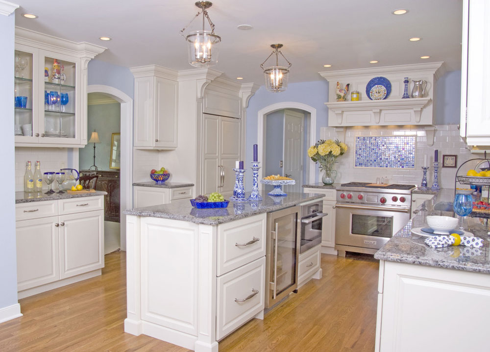 Blue Kitchen Ideas Cabinets Walls And Counters