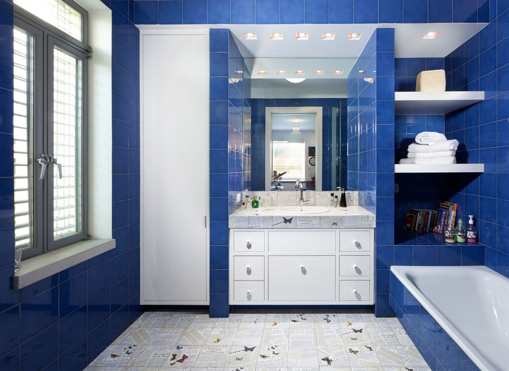 Marvelous White And Blue Bathroom Ideas Part - 4: Bathroom-by-Elad-Gonen Blue Bathroom Ideas: Design, Décor, And