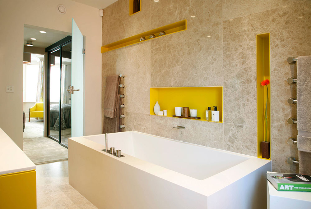 South Kensington Apartment By Alison Hammond Photography Yellow Bathroom Ideas