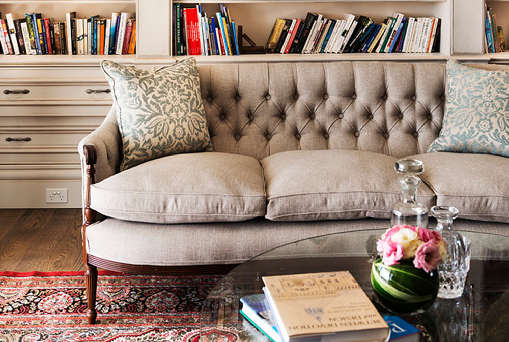 Hamptons E28093 Dalkeith By Oswald Homes Chesterfield Sofa: Leather,