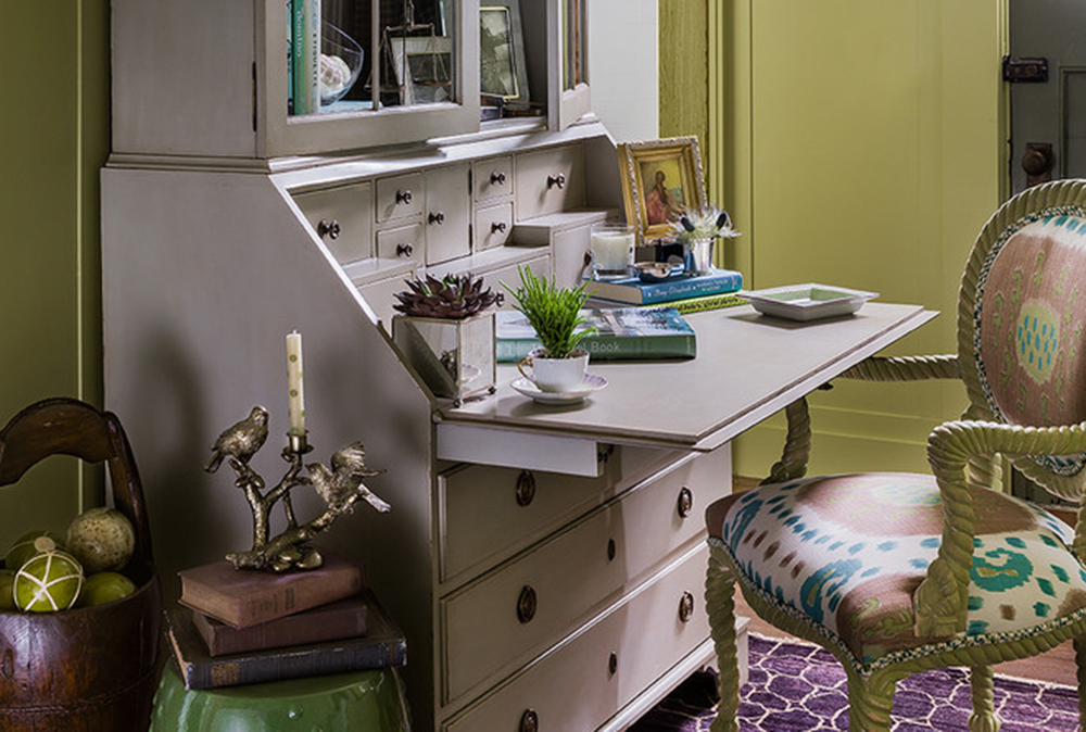 junior-league-of-boston-showhouse-by-elizabeth-home-decor-design-inc Secretary Desk: Modern, Vintage, Small, Or Large