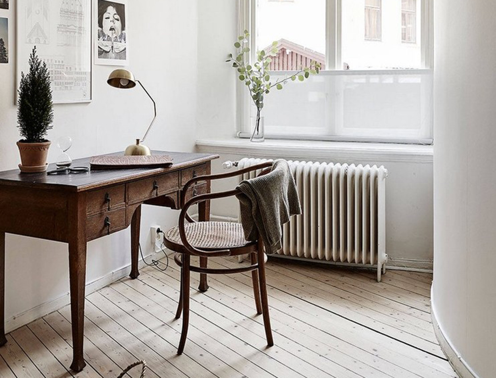 scandinavian-home-office-library-by-up-interiors Secretary Desk: Modern, Vintage, Small, Or Large