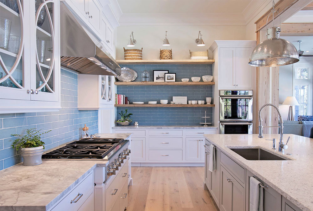 Cardinal Rd By Holmes Salter Interiors Kitchen Shelves: Floating,