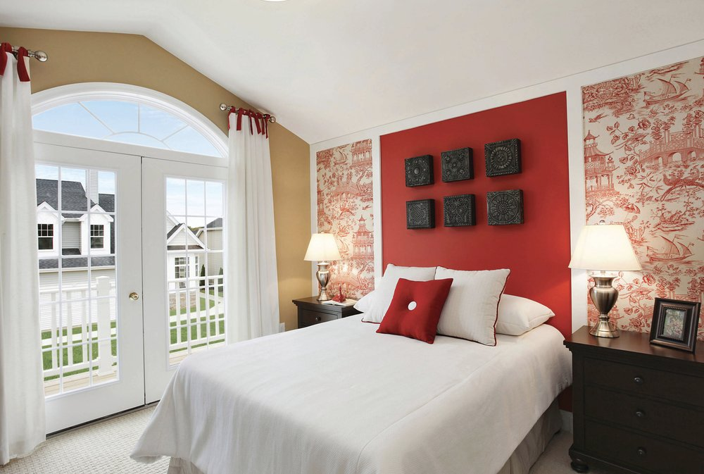 Red Bedroom Wall Painting Ideas Part - 36: Impressive Interior Design