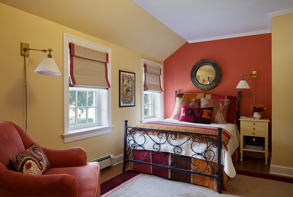 Bohemian Chic By B Fein Interiors Llc Red Bedroom Ideas