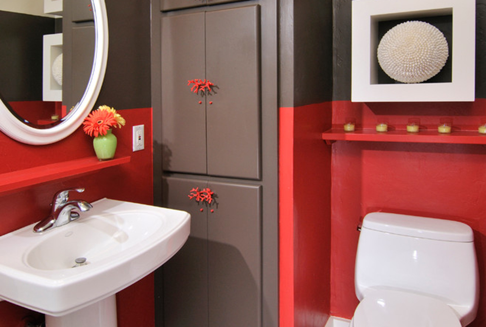 Carmel Valley By Hkw Designs Inc Red Bathroom Ideas Rugs