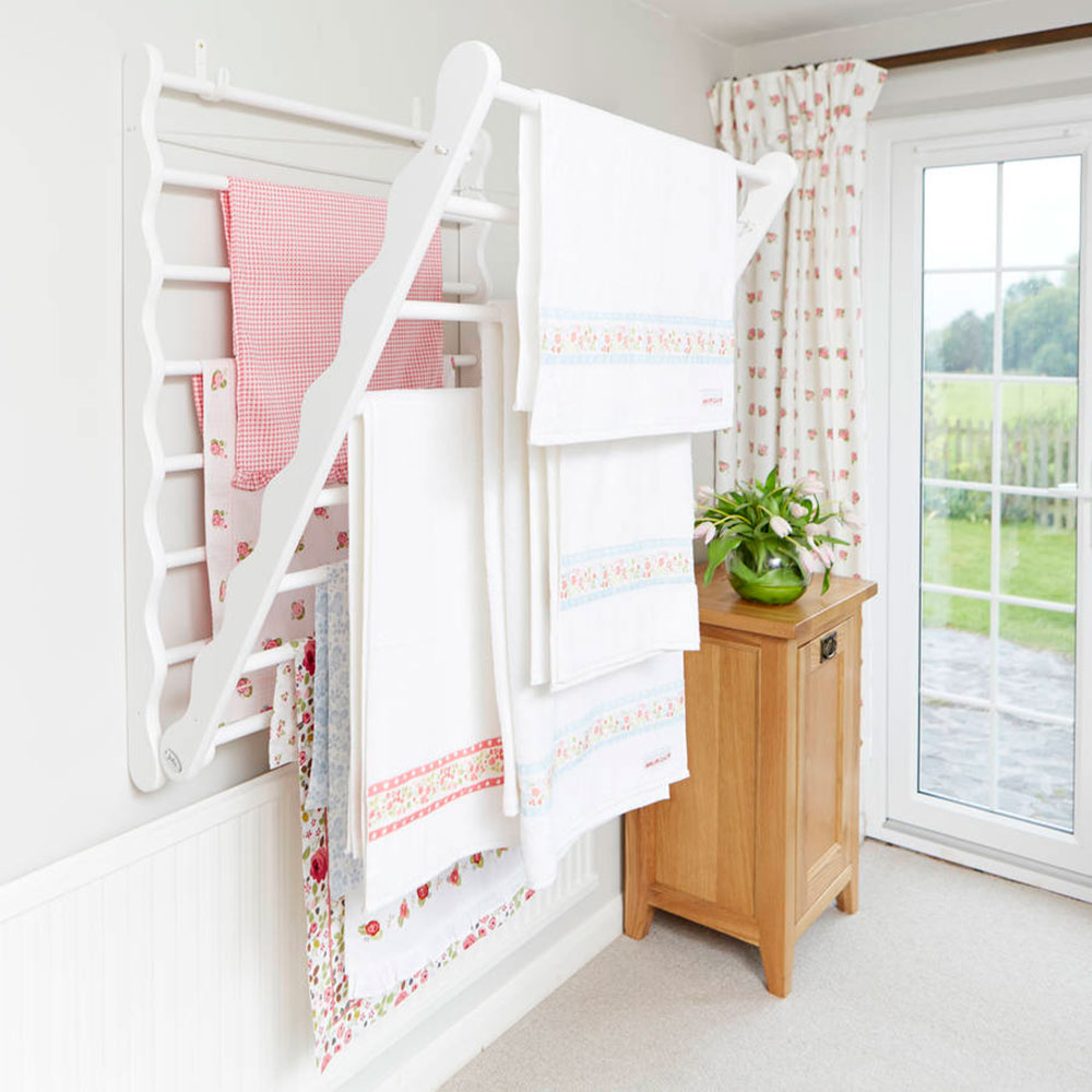 Deciding On A Clothes Drying Rack. Original_laundry Ladder In Pine How To  Save More Space By Choosing The Best