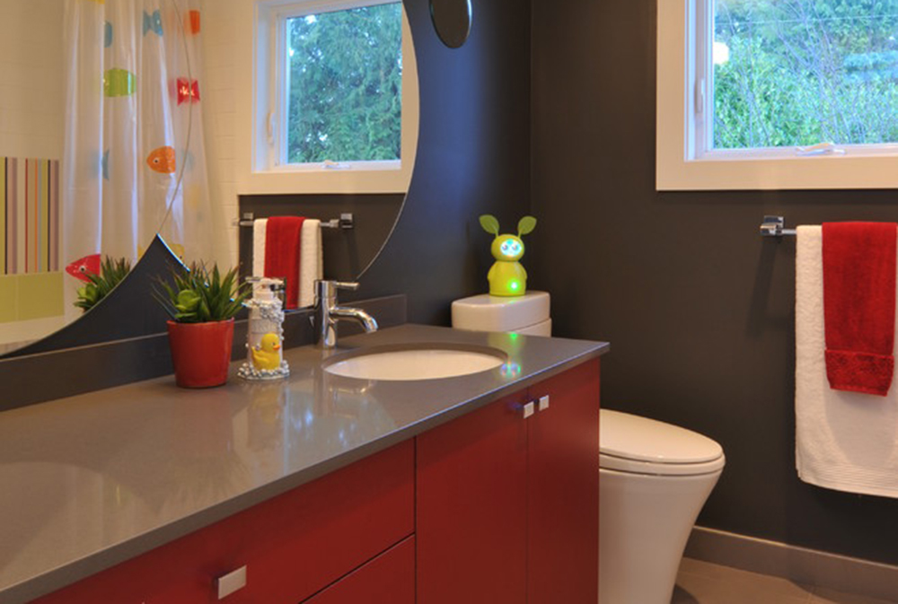 Sherwood By Cci Renovations Red Bathroom Ideas: Rugs, Accessories, And