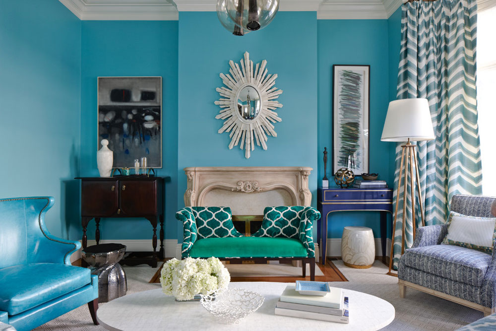 Colors That Go With Teal Part - 16: Impressive Interior Design