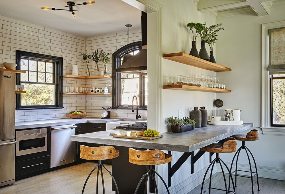 Industrial Kitchen Ideas Cabinets Shelving Chairs And