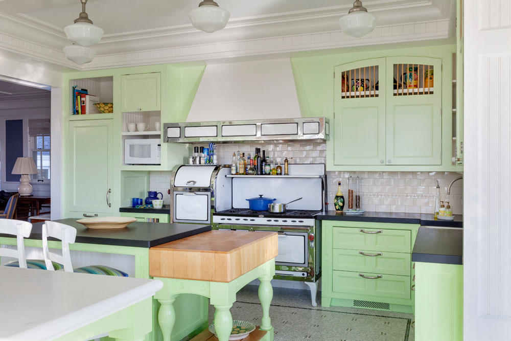 Green kitchen: ideas, décor, curtains, and accessories