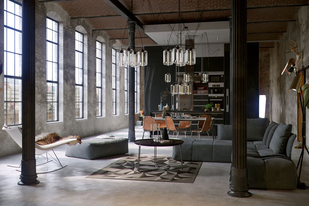 Modern Industrial Interior Design: Definition & Home Decor on industrial warehouse plans, country rustic house plans, urban rustic house plans, industrial shop plans, industrial loft plans, industrial building plans, interior rustic house plans, industrial garage plans, industrial condo plans,