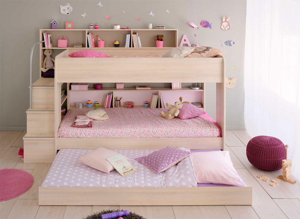 Modern Bunk Bed With Extra Pull Out 20
