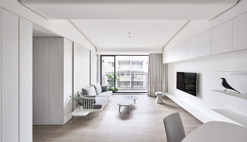White Living Room Minimalist Interior Design: Definition And Ideas To Use