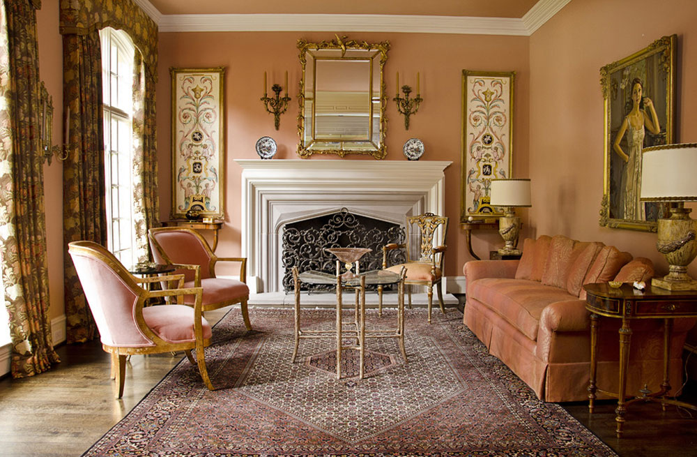 Using The Peach Color To Decorate Amazing Interiors