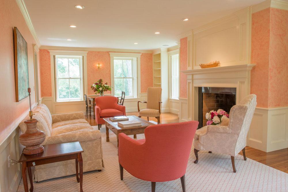 Peach Living Room - Peach Color Interior Design Ideas ...