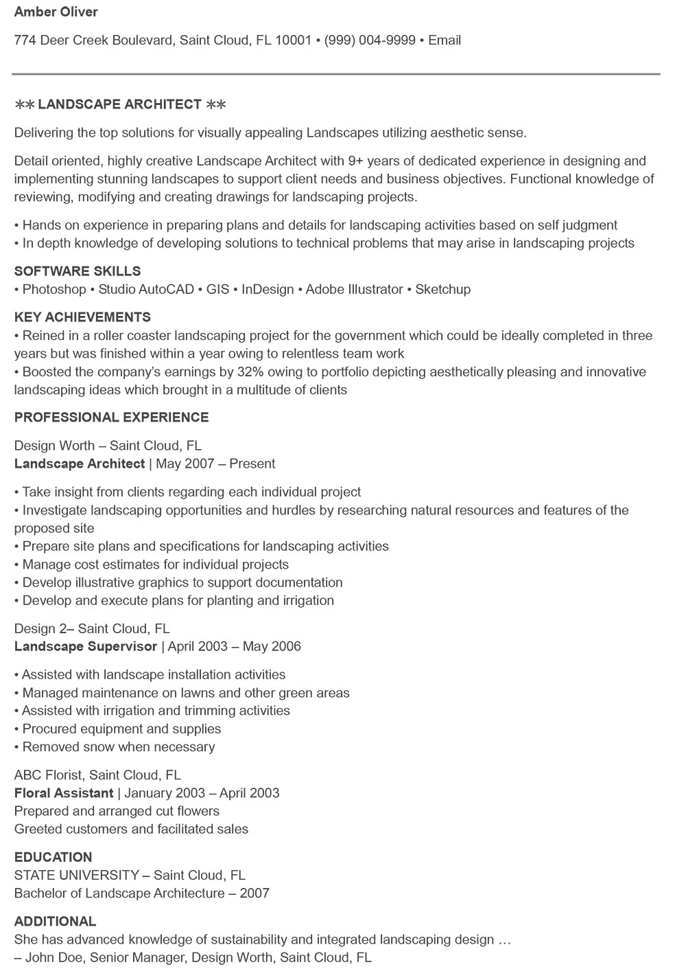 the architecture resume that gets you hired templates