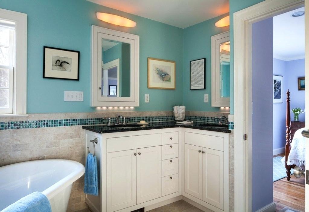 Neat Corner Bathroom Vanity Ideas You Will Find Useful