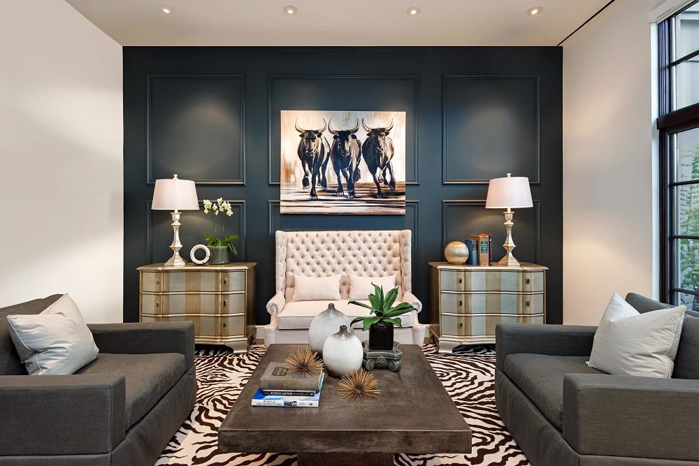 Living Room Accent Wall Ideas Using Various Colors