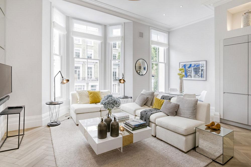 Cathcart-Road-Chelsea-SW10-London-by-Catherine-Wilman-Interiors Cách đặt một tấm thảm trong phòng khách để nơi này trông thật tuyệt