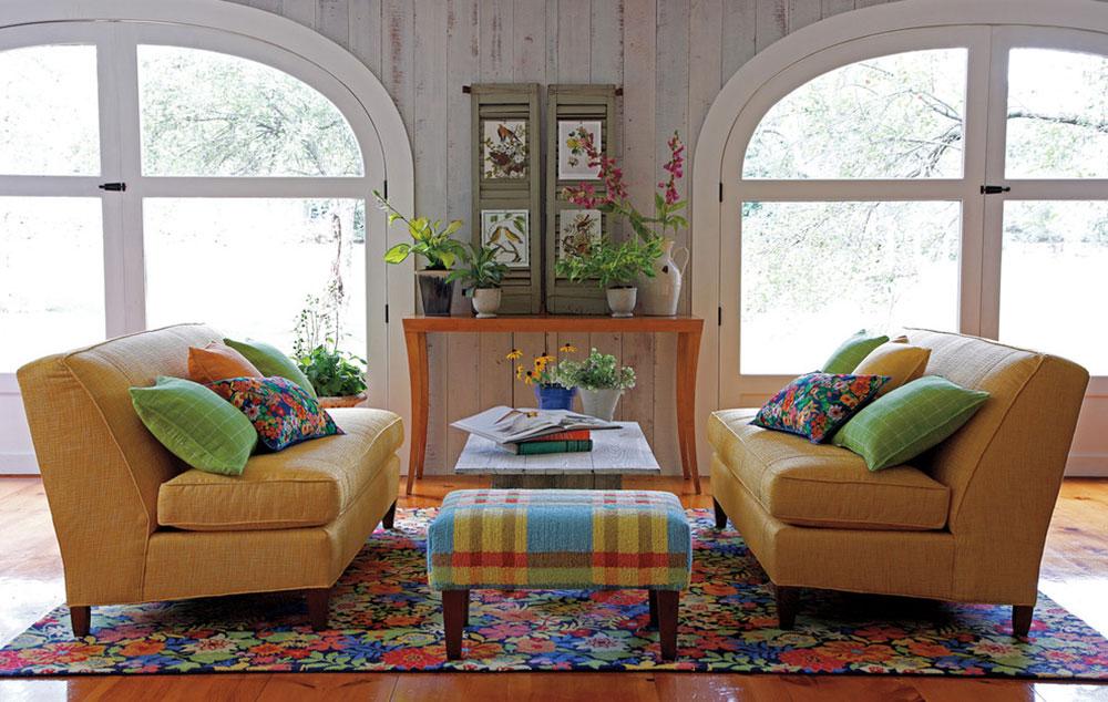 Tháng Bảy-Tấm thảm-Phòng khách-đã ngừng cung cấp-bởi-Công ty-C Cách đặt một tấm thảm trong phòng khách để nơi này trông thật tuyệt vời