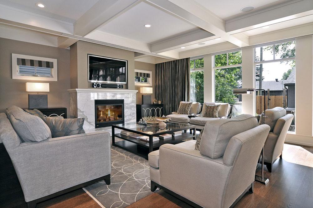 Living-Room-by-Bruce-Johnson-Associates-Interior-Design Cách đặt một tấm thảm trong phòng khách để nơi này trông thật tuyệt