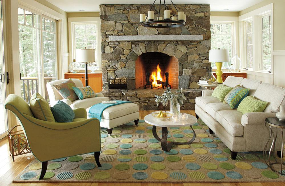 Lounge-Lake-Living-Room-by-Company-C Cách đặt một tấm thảm trong phòng khách để nơi này trông thật tuyệt