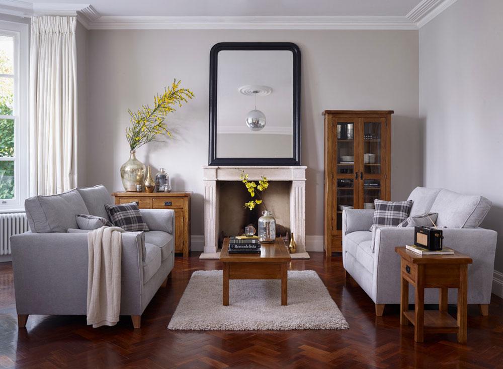 Original-Rustic-Living-Room-by-Oak-Furnitureland Cách đặt một tấm thảm trong phòng khách để nơi này trông thật tuyệt